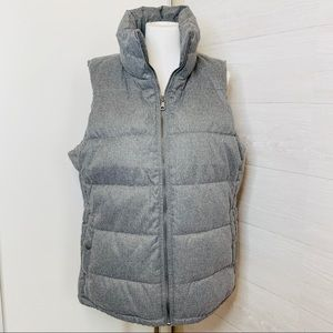 Grey Fleece Lined Puffer Vest Old Navy Size Large